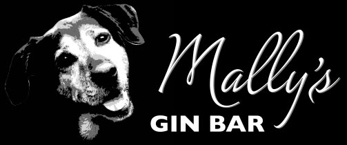 Mallys Gin Bar Logo with head of dog